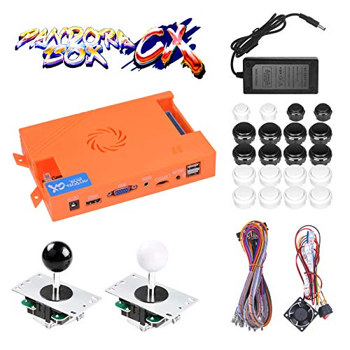 TAPDRA 3A Original Pandora Box CX 2800 in 1 Home Arcade Board Full DIY Kit DIY with Harness Cable/Power Switch Adapter, HDMI VGA 720P LCD Monitor, Support Add Games