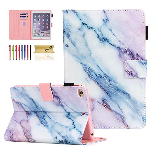 iPad 9.7 inch 2018 2017 Case/iPad Air Case/iPad Air 2 Case, Dteck PU Leather Folio Smart Cover Auto Sleep Wake Stand Wallet Girls Women Case for Apple iPad 6th / 5th Gen,iPad Air 1/2,Marble