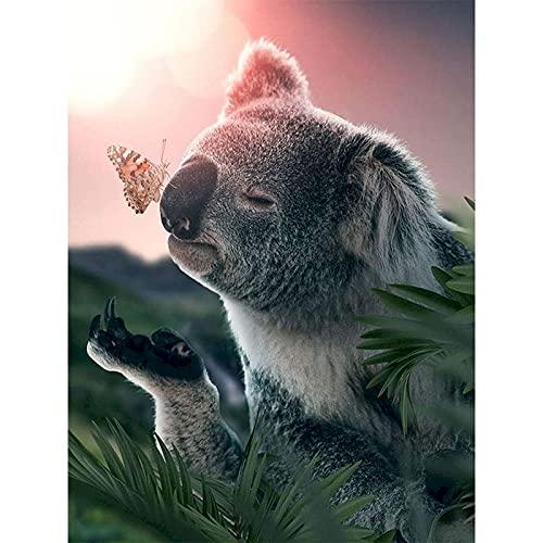 ABcvuz Puzzle da 1000 Pezzi/Koala Animale e Farfalla/Puzzle da 1000 Pezzi per Adulti e Bambini dai 12 Anni in su, Decorazione della casa(50x75cm)