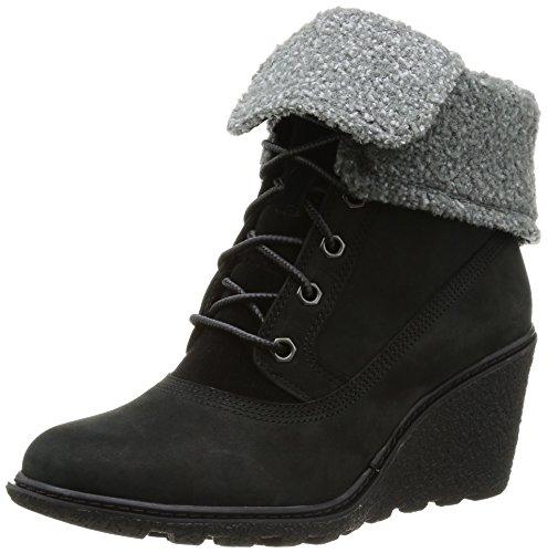 Timberland Damen FTW_Amston Roll Top Kurzschaft Stiefel, Schwarz (BLACK), 40 EU