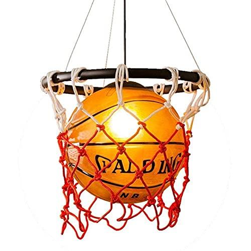 Creativa bombilla acrílica E27 retro con red de baloncesto, lámpara decorativa personalizada, sin fuente de luz, lámpara creativa para habitación de los niños, restaurantes, bares, cafeterías