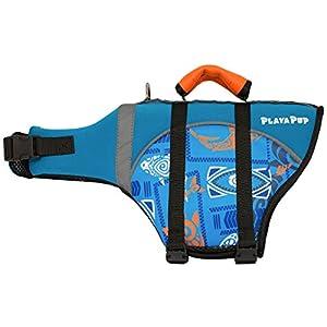 PlayaPup Dog Life Jacket, Tribal Shark Night, X-Large
