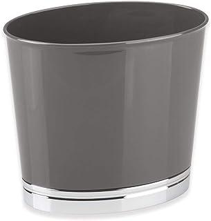 mDesign Poubelle de Salle de Bain et WC – Corbeille à Papier Ovale au Design élégant – Poubelle en Plastique Durable avec ...