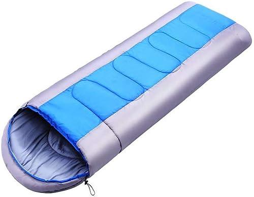 exclusivo Mhwlai Saco de Dormir Doble Doble Doble Exterior para Adultos Cuatro Estaciones de Viaje Camping Bolsa de Dormir Almuerzo Pausa de Viaje Viaje de Camping Bolsa de Dormir de Momia Bolsa de Dormir,azul  almacén al por mayor