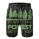 VJSDIUD May The Forest BE with You Bañador Casual de Verano para Hombre Bañador