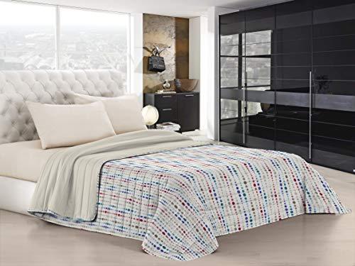 Italian Bed Linen Colcha de Verano Fantasy con Bolas, 1 Plaza y Media.