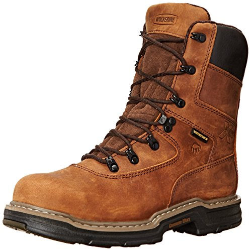 Wolverine Men's Marauder 8 Inch Contour Welt Steel Toe EH Work Boot, Brown, 10 M US