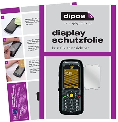 dipos I 2X Schutzfolie klar kompatibel mit Caterpillar CAT B25 Folie Bildschirmschutzfolie