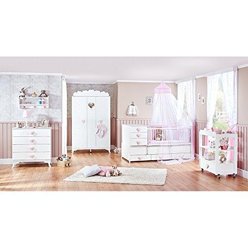 Mitwachsendes Babyzimmer, Babymöbel, Kinderzimmermöbel, Kinderzimmer, Möbel (Little Princess - weiss)