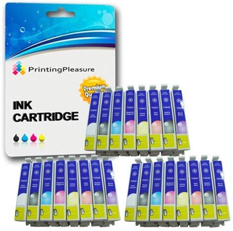 24 Druckerpatronen für Epson Stylus Photo R800, R1800 | kompatibel zu T0540, T0541, T0542, T0543, T0544, T0547, T0548, T0549