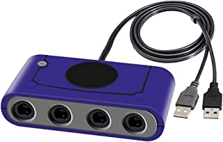 Joytorn Gamecube Controller Adapter for Super Smash Bros Switch,Gamecube Controller Compatible with Wii U Switch and PC,4 Ports - Plug & Play,Support Turbo Function-Purple