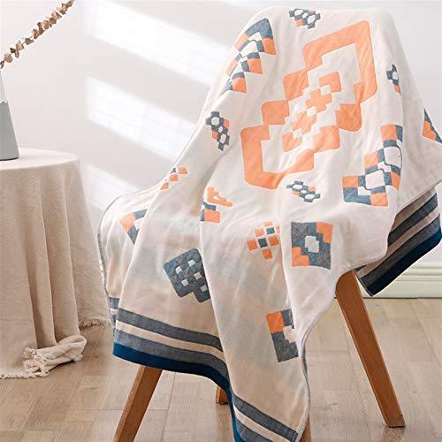 Toalla de baño grande de la toalla de baño de cuatro capas de algodón Toalla absorbente de ducha 70 * 140 cm (Color : 4)