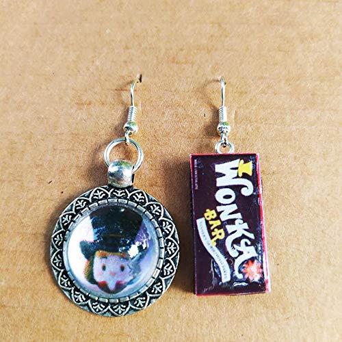 Orecchini Cammeo Willy Wonka e La Fabbrica di Cioccolato kawaii