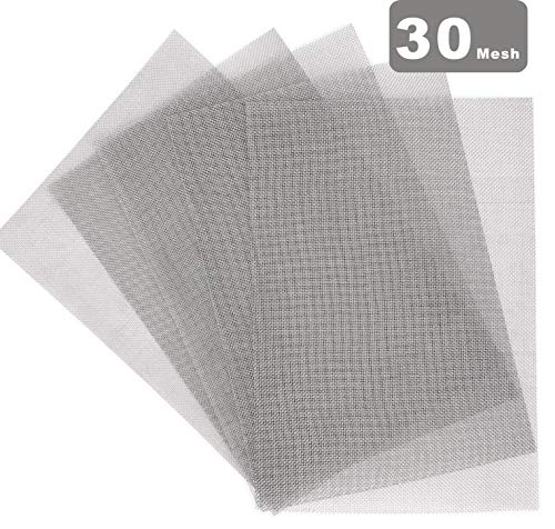 MOPHY 5er 304 Edelstahl Drahtgewebe Edelstahlgewebe (30 Mesh) Wire Mesh-A4 (210 x 300mm)
