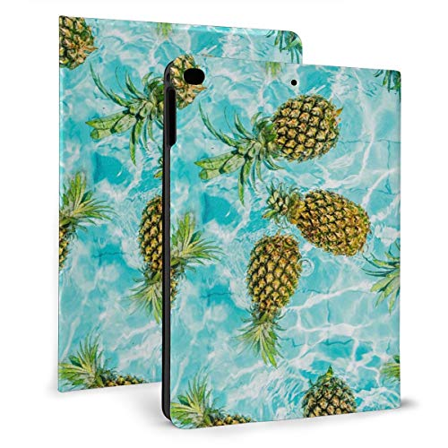 Case for iPad 2017 (5th Gen) iPad 2018 (6th Gen) iPad Air 2 & 1 9.7in, Shockproof Slim Shell Trackpad with Auto Wake/Sleep, Pineapples in a Swimming Pool