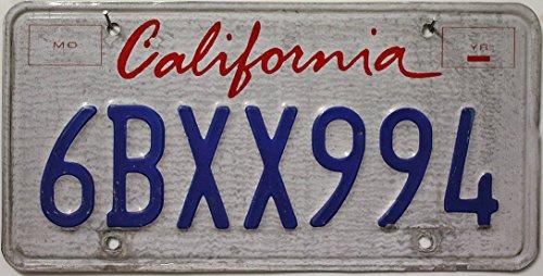 USA Nummernschild CALIFORNIA // US Kennzeichen Kalifornien // License Plate Blechschild