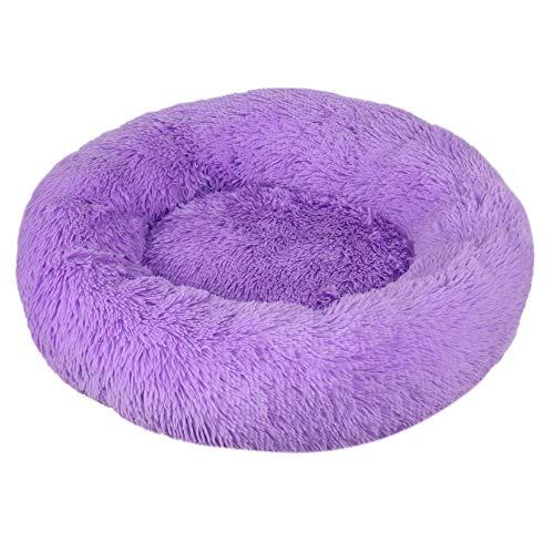 Donut hondenmand, 4 cm pluche stof wasbaar in de machine zachte warme vier seizoenen algemene kattenbank voor katten honden diep slapend