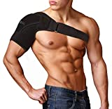 Sixora Shoulder Support Brace Adjustable for Women and Men | Shoulder Immobilizer for Torn Rotator Cuff with Compression Sleeve and Breathable Neoprene | Shoulder Pain Relief for AC Joint Dislocations