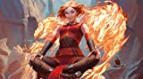 RFG REMOVE FROM GAME Chandra Acolyte of Flame Compatible with Magic The Gathering, Pokemon, Yugioh Playmat 24 x 14 inch