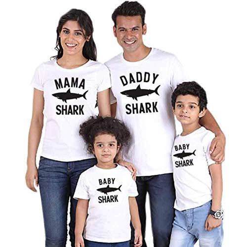 Family Matching Outfits mamma dotter far son kläder kort ärm blus toppar t-shirt föräldrar-barnblus set