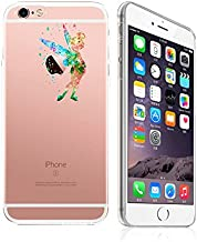 iPhone 8 Plus / 7 Plus Compatible, Art Painting Ultra Slim Translucent Silicone Clear Case Gel Cover (Cutest Green Fairy Tale Angel)