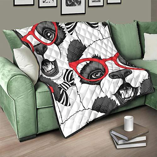 Flowerhome Lustig Panda Steppdecke Tagesdecke Bettdecke Bettüberwurf Sofadecke Couchdecke Schlafdecke TV für Sofa Couch Bett White 200x230cm