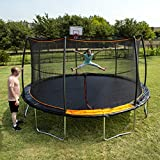 JumpKing 15 ft. Trampoline 7 Legs/ 7 Poles with Bonus Basketball Hoop (300 lb. Weight Limit),...