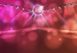 CSFOTO 8x6ft Background Disco Ball Abstract Neon Music Light Photography Backdrop Ballroom Dance Hall Club Spotlight Entertainment Stage Night Life Ornate Party Spot Photo Studio Props Vinyl