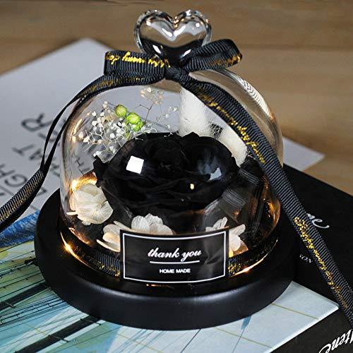 Mother Presents - Rosa eterna exclusiva en cúpula de cristal, diseño romántico de la Bella y la Bestia