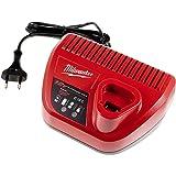 Powery Milwaukee Cargador Rápido C12C 4932352000 para Baterías 12V Li-Ion