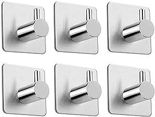 Auto-adhesivo de ganchos, acero inoxidable cepillado Palo en Wall suspensión de puerta del gancho de la toalla de baño coc...