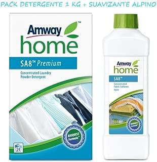 AMWAY HOME Pack Detergente biodegradable y suavizante Alpino- incluye la exclusiva BIOQUEST FORMULA, a base de oxígeno activo y bio-enzimas.