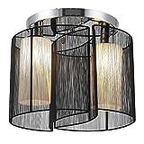HOMCOM Deckenlampe Vintage Deckenleuchte 2 flammig Deckenlicht Lampe 2 x E27-Fassung Schwarz Ø47,5...