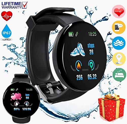 【2020 Nuevo】Pulsera Deportiva Bluetooth,Reloj Inteligente, Smartwatch Impermeable IP67 Pulsera Actividad Hombre Mujer, 1.3 Pulgada Pantalla Táctil, Monitor...