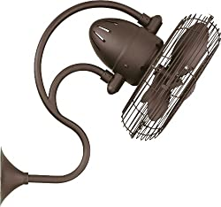 """Matthews ME-BZ Melody Bronze Outdoor 13"""" Wall Fan with Wall Control"""