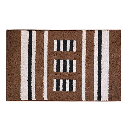 Find Bargain CarPet Bathroom Door Absorbing Home Bedroom Door mat Non-Slip Foot mat (Color : Brown, ...