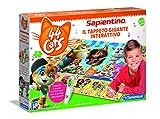 Clementoni- Sapientino Gigante Interattivo-44 Katzen, Puzzle-Teppich, Mehrfarbig