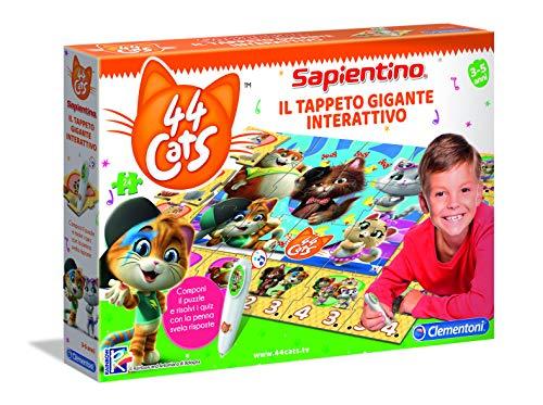 Clementoni- Sapientino 44 Gatos – Alfombra Gigante interactiva, 3 + años, Multicolor (16192)