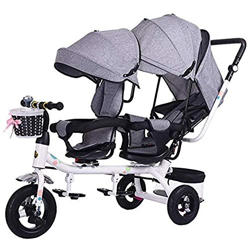 Lowest Price! Pushchairs Double Stroller, Tandem Bicycle, Twin Stroller 1-6 Year Old Stroller, Seat ...