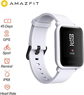 "Xiaomi Huami Amazfit Bip Smart Watch Reflection Color Screen 1.28"" Baro IP68 Waterproof GPS for Android & iOS English Version (White)"