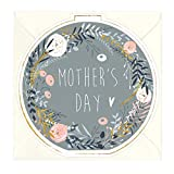 Whistlefish Floral Round Card - Mother's Day