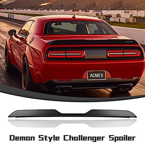 Acmex Rear Spoiler Compatible with Dodge Challenger 2008-2017 Demon Style Trunk Spoiler Lip Wing Primer Black(Demon Style)