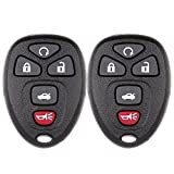 ECCPP Replacement fit for Keyless Entry Remote Control Car Key Fob Shell Case Buick Allure Lacrosse/For Chevrolet Cobalt Malibu/Saturn Aura Sky KOBGT04AA OUC60270A (Pack of 2)