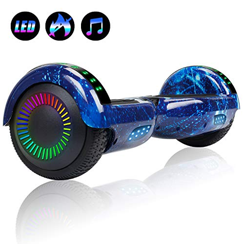 "Felimoda Hoverboard with Bluetooth, 6.5"" LED Light Wheel Self Balancing Scooter, Two-Wheel Hoverboard, Electric Scooter for Kids & Adult, UL2272 Certified Self Balancing Hoverboards - Dark Blue"
