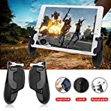 Takyu PUBG Mobile Controller for Ipad, Mobile Game Controller with Game Joystick, Upgraded Version W9 180° Rotatable Triggers Gamepad for 4.5-12.9 inch Tablet & Android iOS Phone