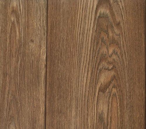 PVC Vinyl-Bodenbelag in Walnuss Optik | CV-Belag im Landhausdielen-Stil | PVC-Belag verfügbar in der Breite 300 cm & in der Länge 350 cm | CV-Boden wird in benötigter Größe als Meterware geliefert