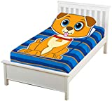 ZippySack Puppy - Don't Make Your Bed, Zip It Up Instead! Multi-Solution Fitted, Zippered Super Soft Plush Blanket. No More Messy Kids Beds! No More Cold Uncovered Nights! (Twin Size)