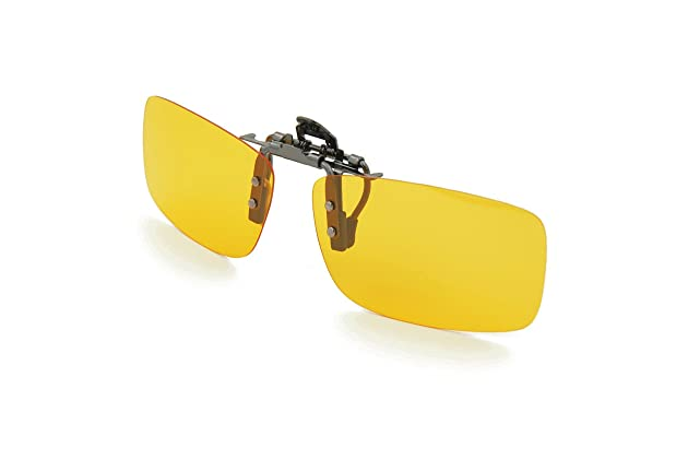 eabe9dc3d5 Besgoods Yellow Night Vision Polarized Clip-on Flip up Metal Clip  Sunglasses Driving