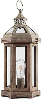 Lampe en Bois Massif Corps Lampe de Bureau Chambre Chevet Lampe de Table Bouton Interrupteur Style américain Style rétro S...