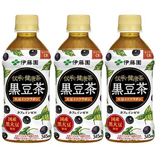 伊藤園 レンジ加温可 伝承の健康茶 黒豆茶 345ml×3本